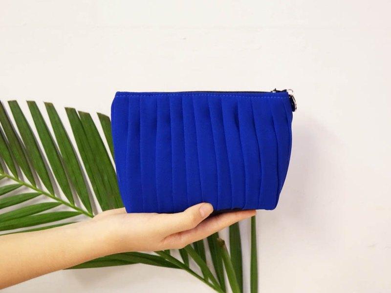 vingt six寶藍色化妝包.手拿包