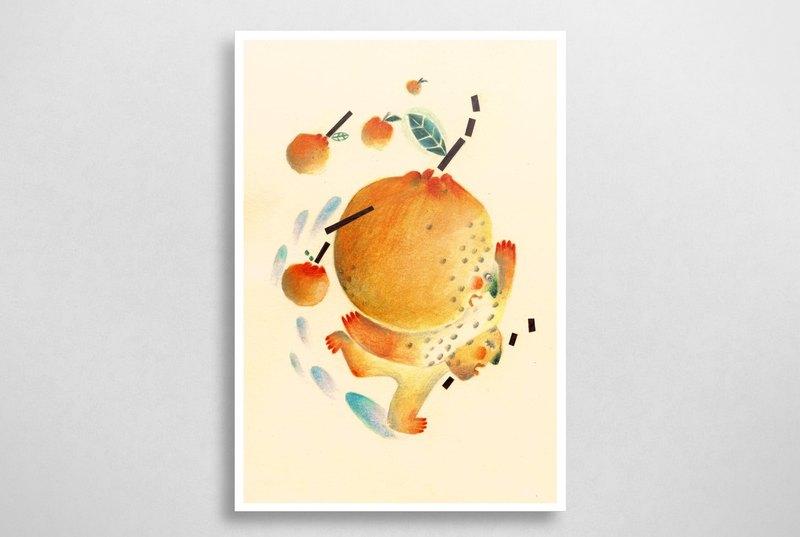 橘子明信片