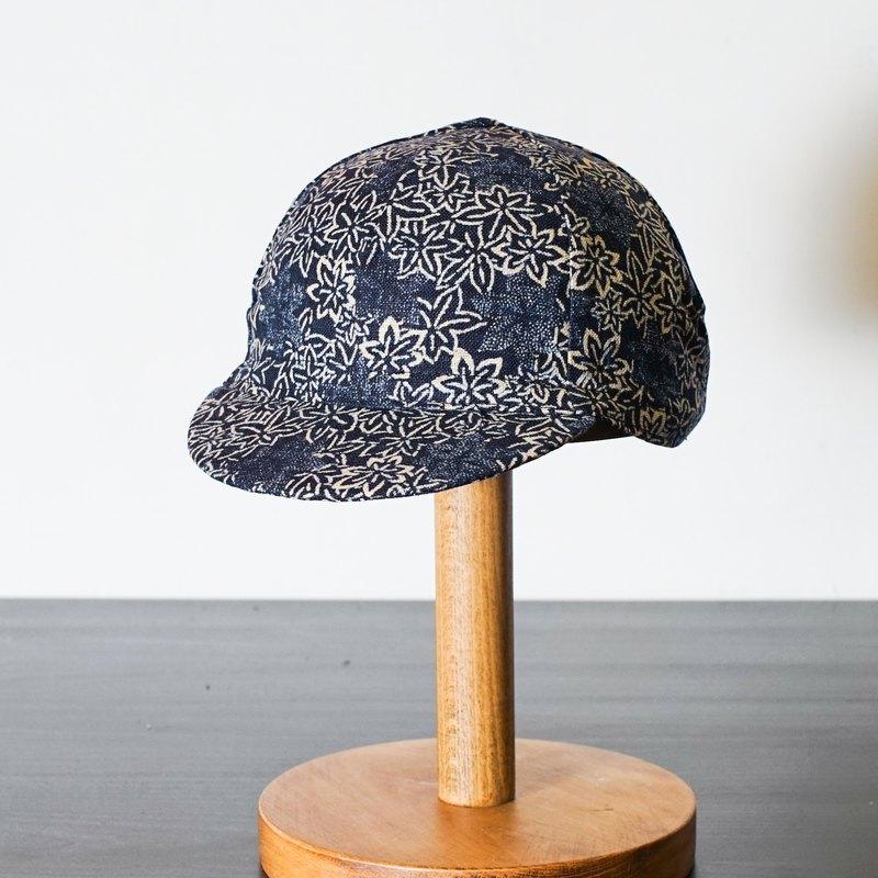手工單車小帽 和風花花圖案