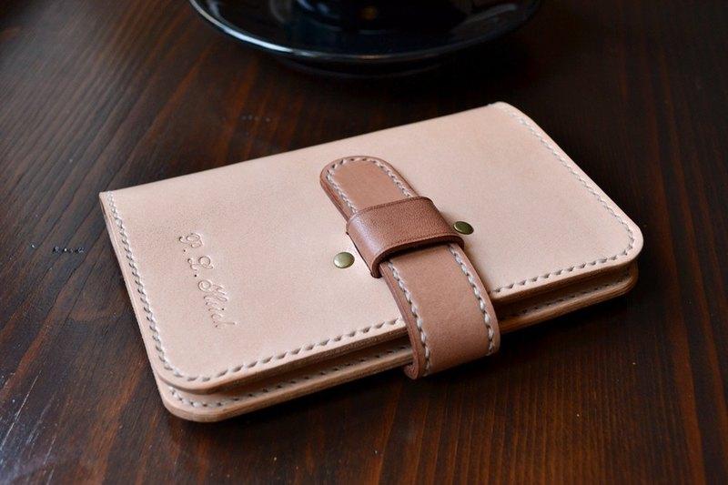 真皮 植鞣皮 雙色插梢式 手作護照套 出國旅遊 客製顏色 打印文字