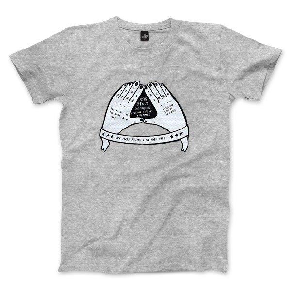 她讓我感覺在太空 - 深麻灰 - 中性版T恤