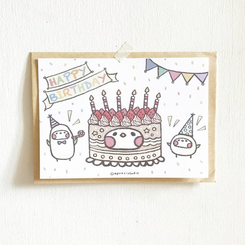 生日快樂 生日卡片 明信片