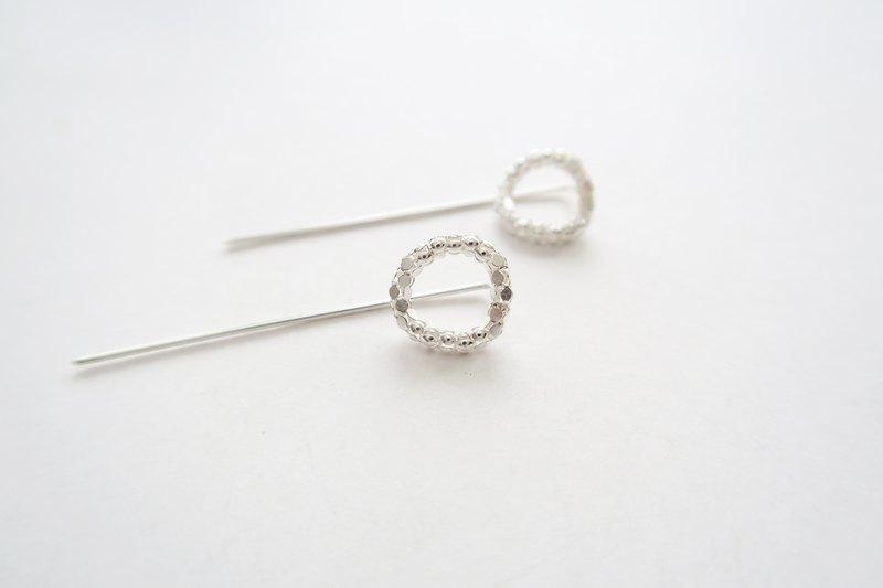 925純銀 銀河Q圈 耳環或耳夾 一對/ Pinkoi 獨家販售