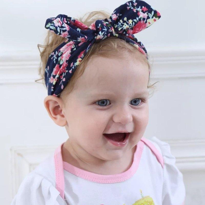 棉質柔軟印花兒童髮帶