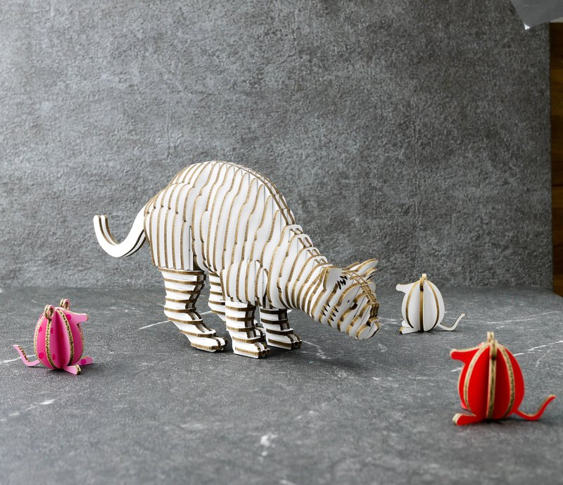 THANK YOU CAT 貓 語系列 3D 手作 DIY居家擺飾 白色