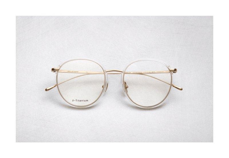 日本鈦金屬復古鏡框 透色淺金