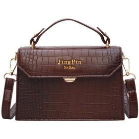 レディースクロコダイルフラップバッグデザイナーハンドバッグの女性のバッグブラックホワイト小デイクラッチゴールドチェーン女の子Crossbod、ブラウン