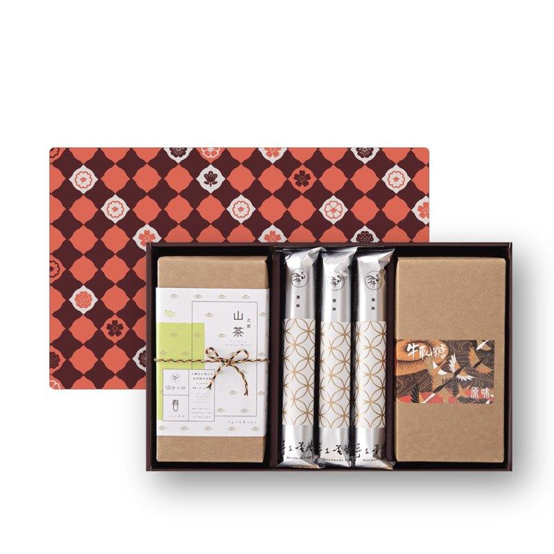 金鶴禮C-原味蛋捲6支、原味牛軋糖150g、山茶禮盒/咖啡禮掛耳包