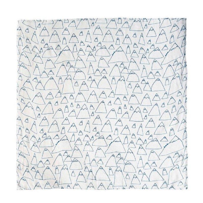 有機棉紗布包巾(山嵐) – MOUNTAIN MUSLIN BLANKET