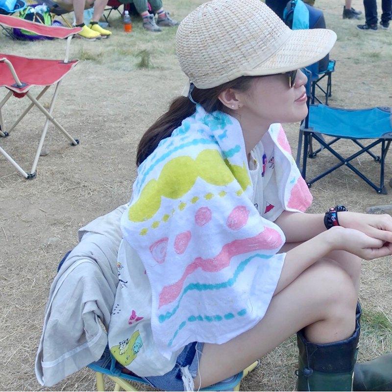 小狗星球純棉軟軟毛巾 黃粉直款