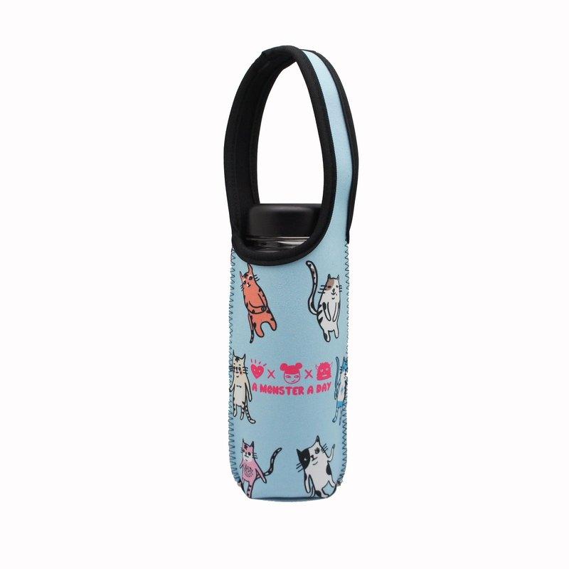 BLR 可提式 保溫瓶套 一天一怪獸 怪獸貓 TC13 水壺袋