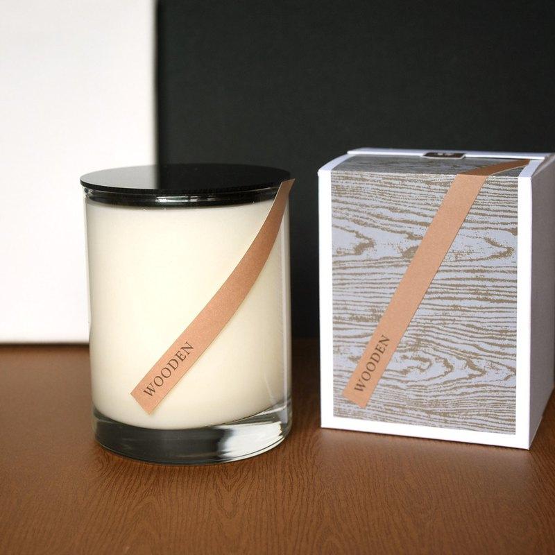 木質香沉調 │ 林霧悠翠 純植物大豆蠟精油蠟燭
