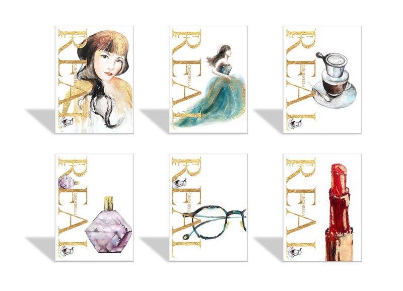 CL時尚插畫明信片-真人版仙杜瑞拉