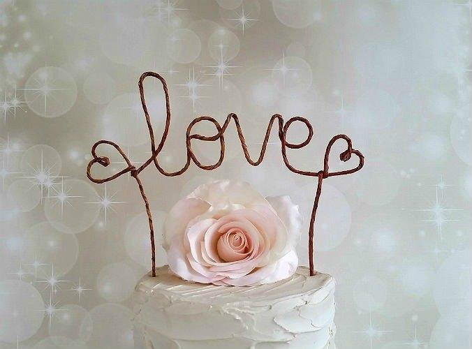 LOVE仿古蛋糕禮帽橫幅,仿古婚禮蛋糕禮帽,自簡陋的別緻婚禮蛋糕ToRustic婚禮蛋糕裝飾,婚紗裝飾