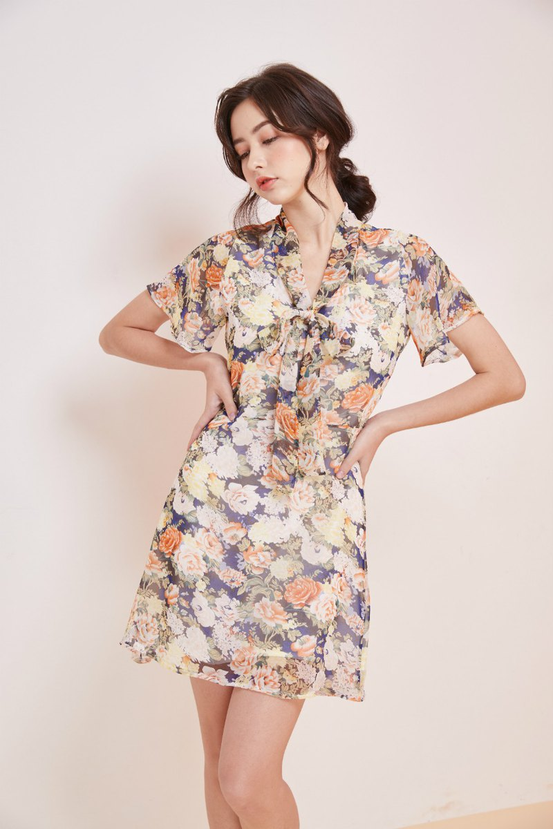 【淡季銷售】Belle滑冰裙(花園綻放)