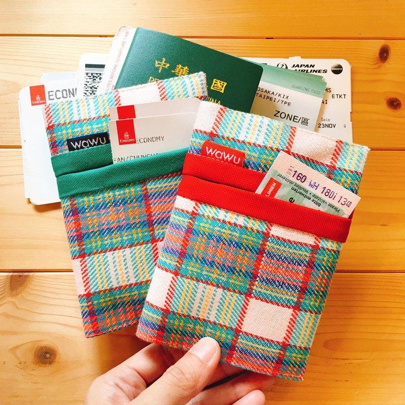 護照布套 (織物彩格 / 一對) 日布 接單生產*
