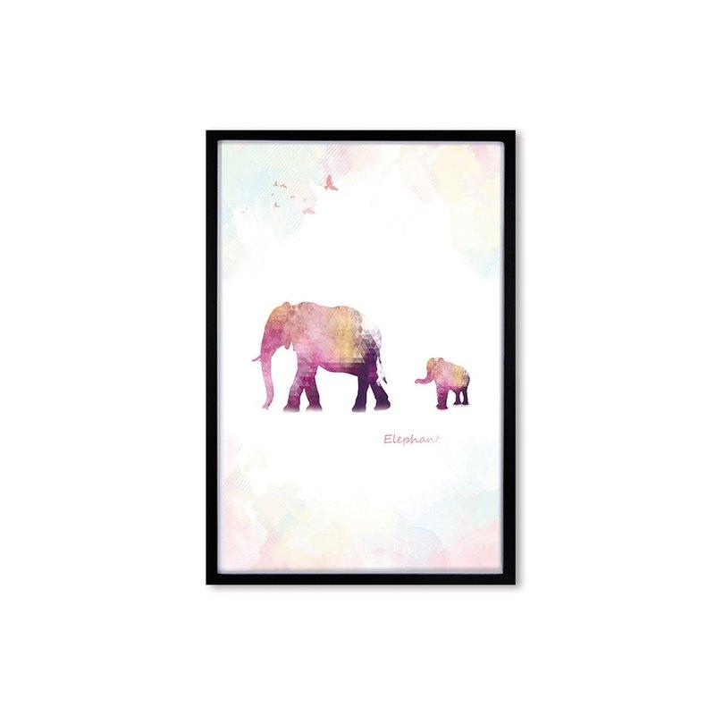 HomePlus 裝飾畫相框 好伴系列 秘境象 黑色框 63x43cm 室內設計 布置 擺設 畫框 照片牆 創意 壁貼