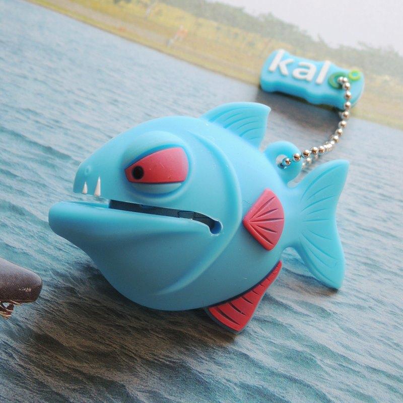Kalo 卡樂創意 矽膠造型隨身碟 食人魚 湛藍8G  聖誕禮物 耶誕