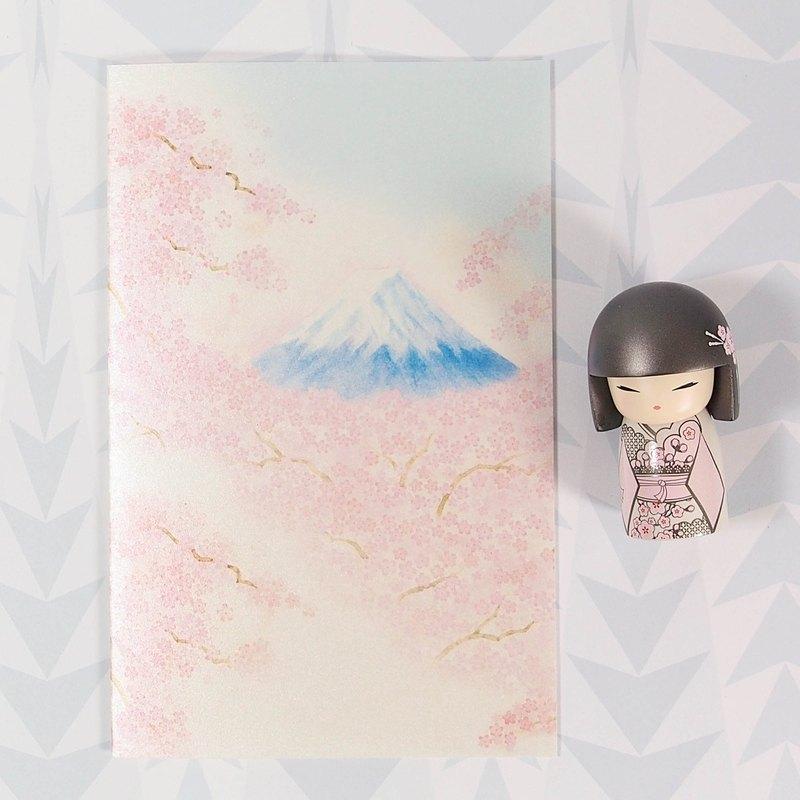 櫻花富士山珍珠和紙【Hallmark-卡片 經典和風/多用途】