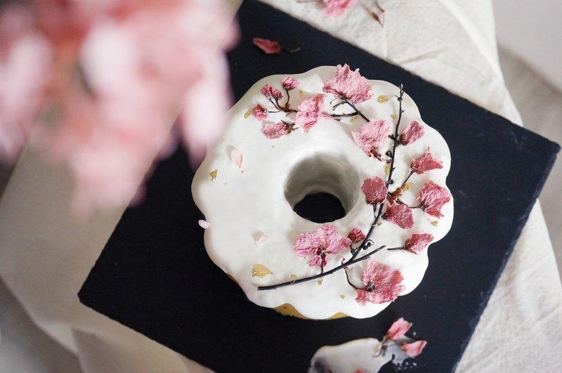 烘焙課程-鹽漬櫻花抹茶紅豆戚風蛋糕