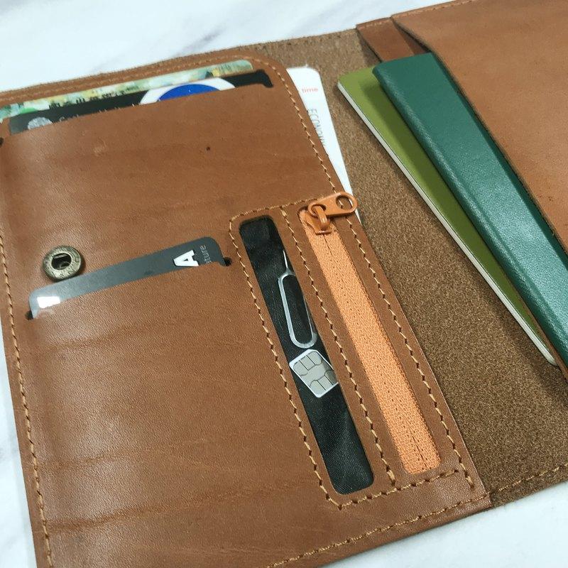【免費雷射刻字】咖啡棕護照套