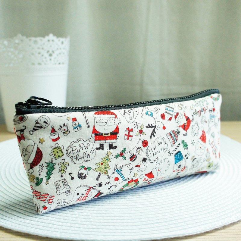 Lovely【日本布訂製】歡樂聖誕筆袋、工具袋、米