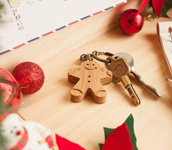 【聖誕節禮物】甜心薑餅人/ 鑰匙圈 手作 客製化 Merry Christmas