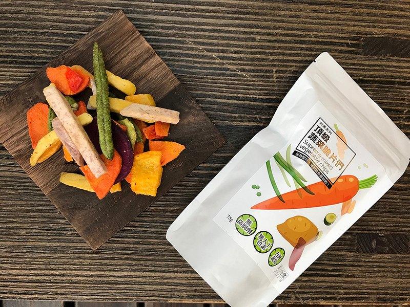 【好日好食】好果系列 頂級蔬菜脆片們3入組
