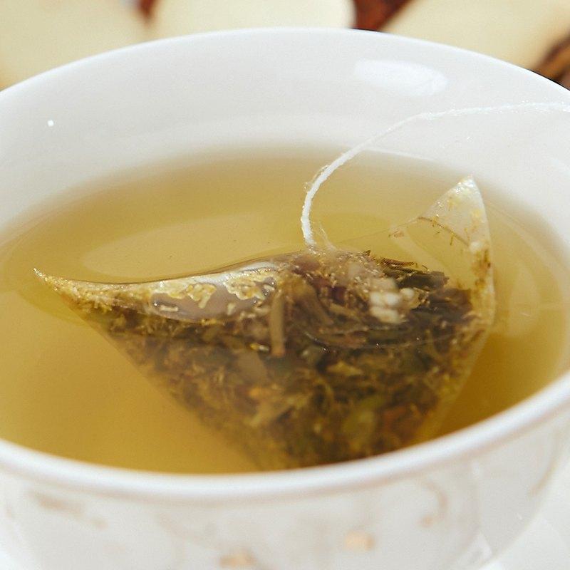 洋甘菊香柚綠茶(8入/袋)│三角立體茶包‧花草茶的能量補給