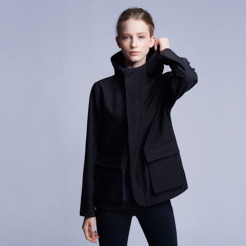 【MACACA】防風防撥水風衣外套 - BPE4191 黑