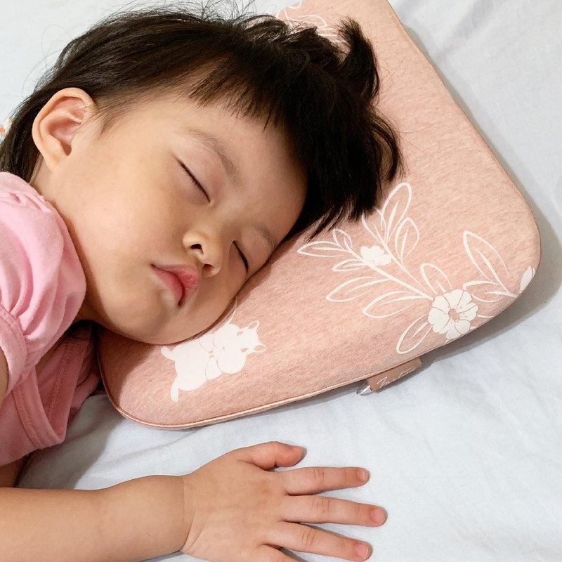 有機棉兒童好眠枕-麻花粉/嬰兒枕頭