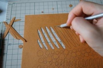 原始模板染色設計的筆記本