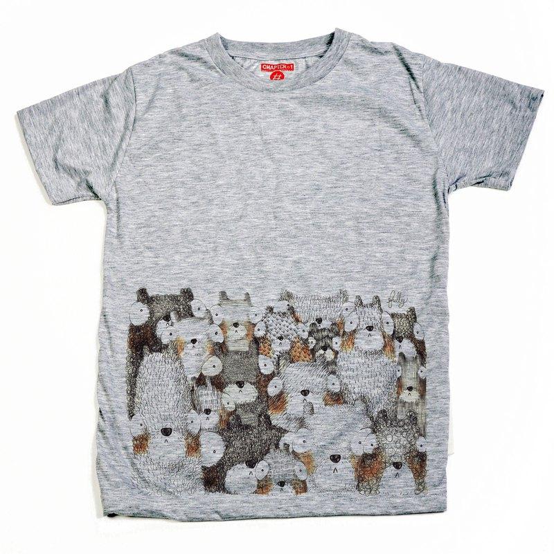 短袖T卹,第一章,看熊,男女,棉混紡,柔軟舒適。