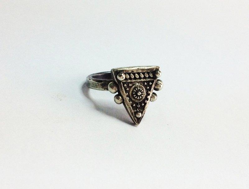 費多拉之五・純銀復古戒指 | Fedora