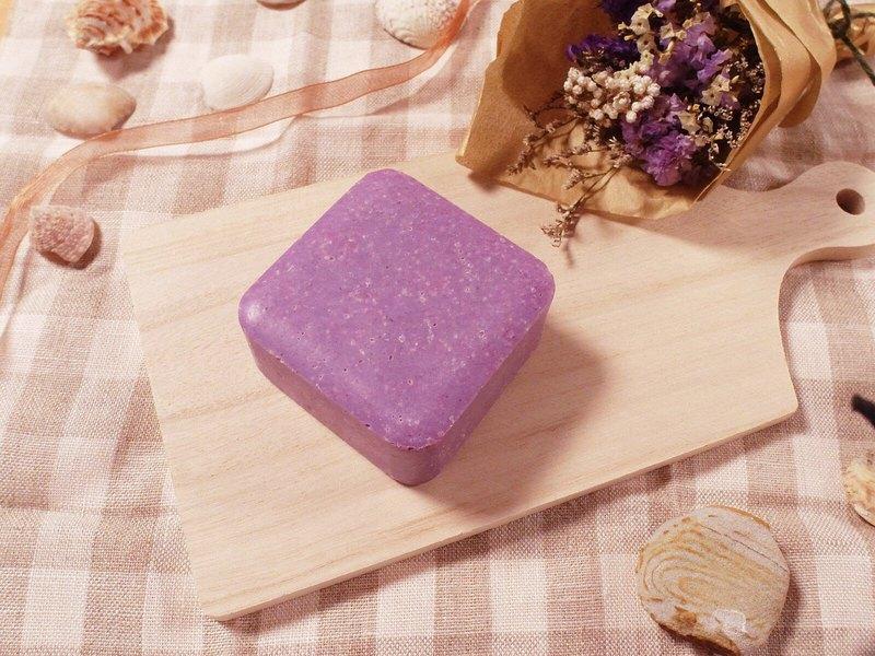 紫戀薰衣山茶花洗髮沐浴皂 頭皮屑 手工皂 洗髮皂 肥皂 好洗 不黏