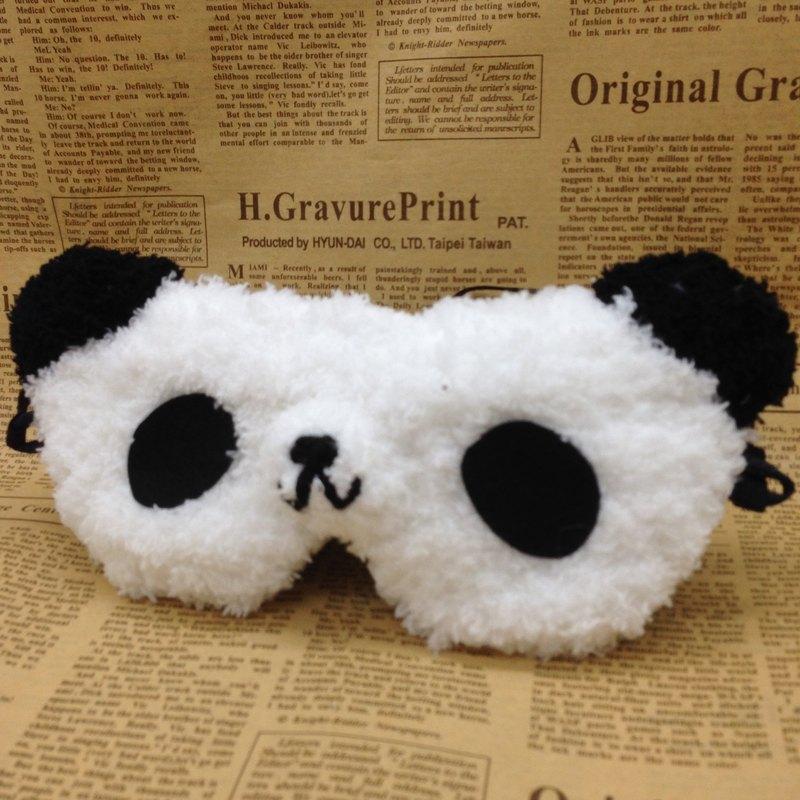 棉花糖動物眼罩-熊貓
