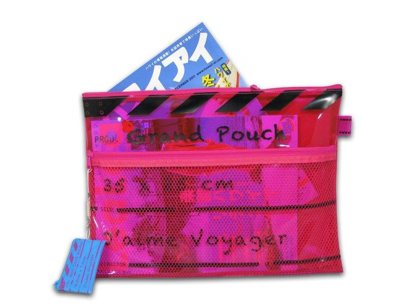 導演拍板拉鏈文件袋 - 大 - 桃紅色