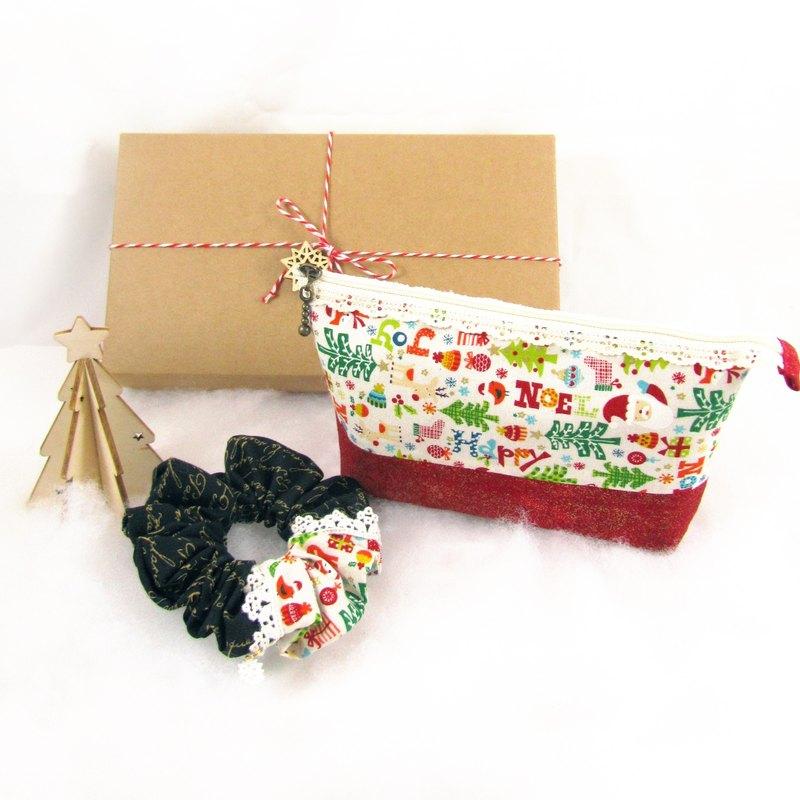 聖誕禮盒- 歡樂祝福 - 化妝包+髮圈+聖誕樹