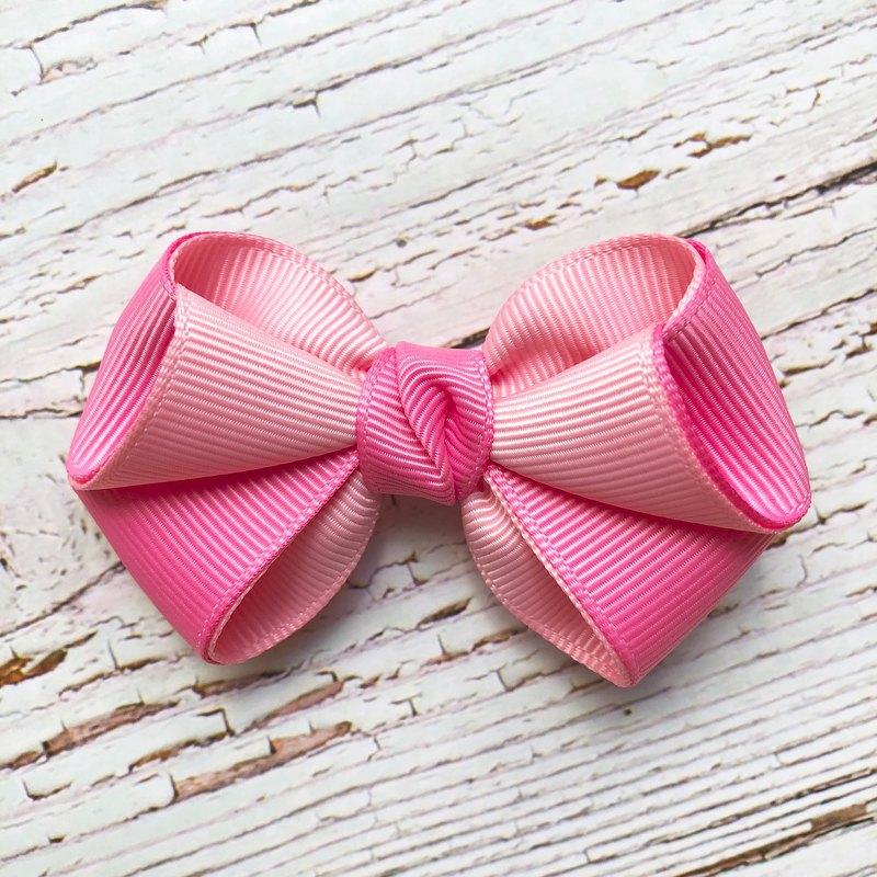 粉嫩小清新瀏海髮夾 /粉紅+桃紅