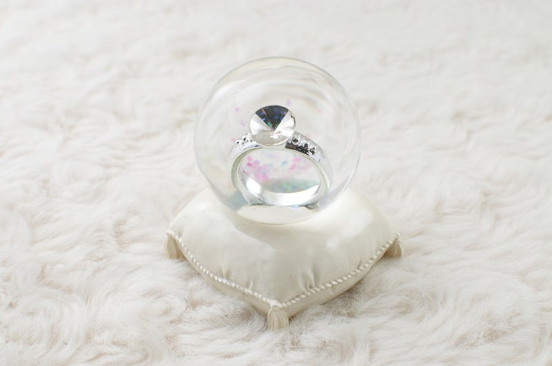 Marry me 戒指水晶球擺飾  婚禮求婚小物 婚禮佈置 告白禮物 療癒