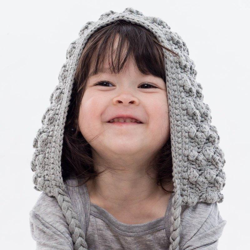 Cutie Bella手工編織帽Ear Flap-Gray