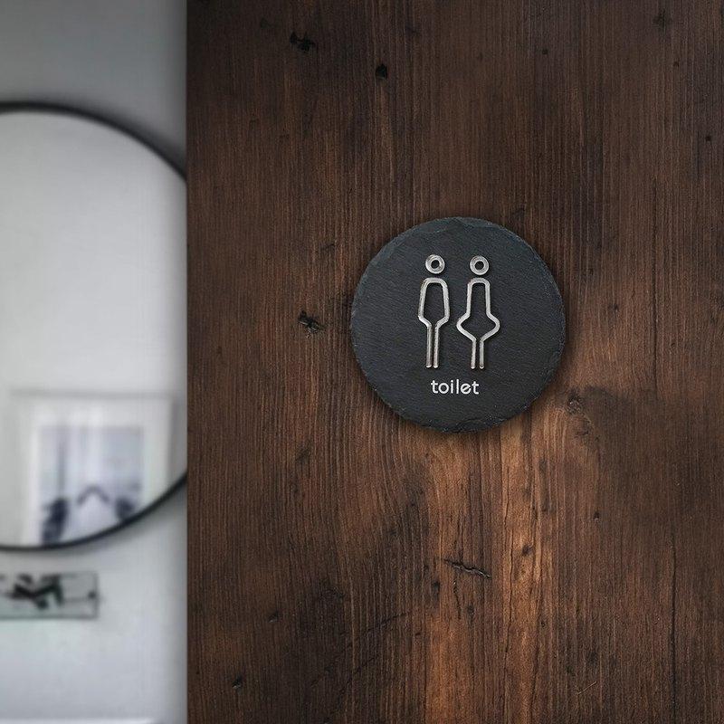 石板 男女廁所 指示牌 標示牌 商旅 餐廳 民宿 茶館