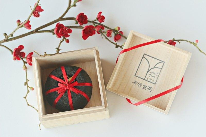 【有好食茶】台灣唯一緊壓茶::酸柑茶梧桐木盒禮盒