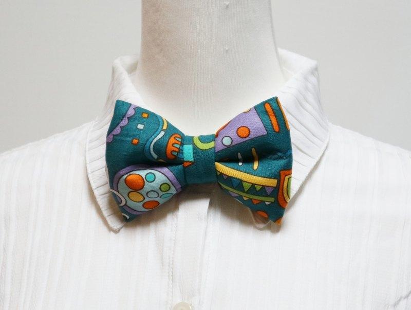 綠色王國手工立體蝴蝶結領結 bow tie *SK*