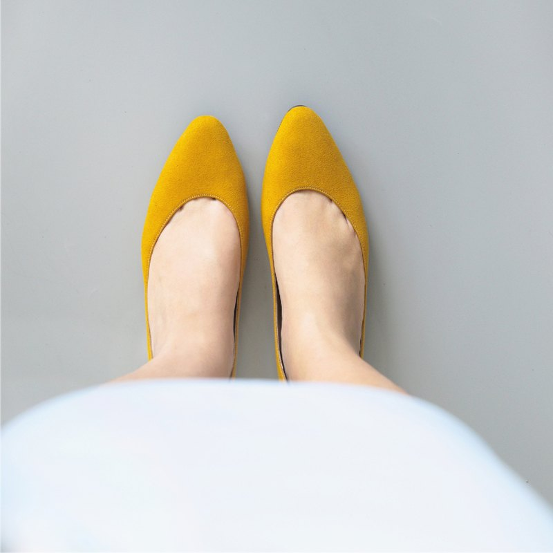 WL AKi 百搭系 (芥末黃) 百搭系 Spicy Mustard Low Heels