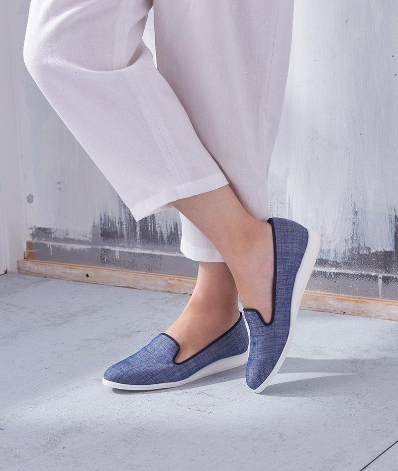 零碼-【熱帶假期】綿麻坡跟樂福鞋_牛仔藍