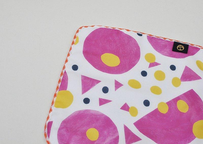 口水巾 小手巾 手帕 方巾 隨身清潔環保-水果 大坪頂百香果印花