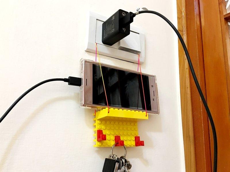電源酷勾4色組  手機充電神器 空間魔法師 相容樂高LEGO積木