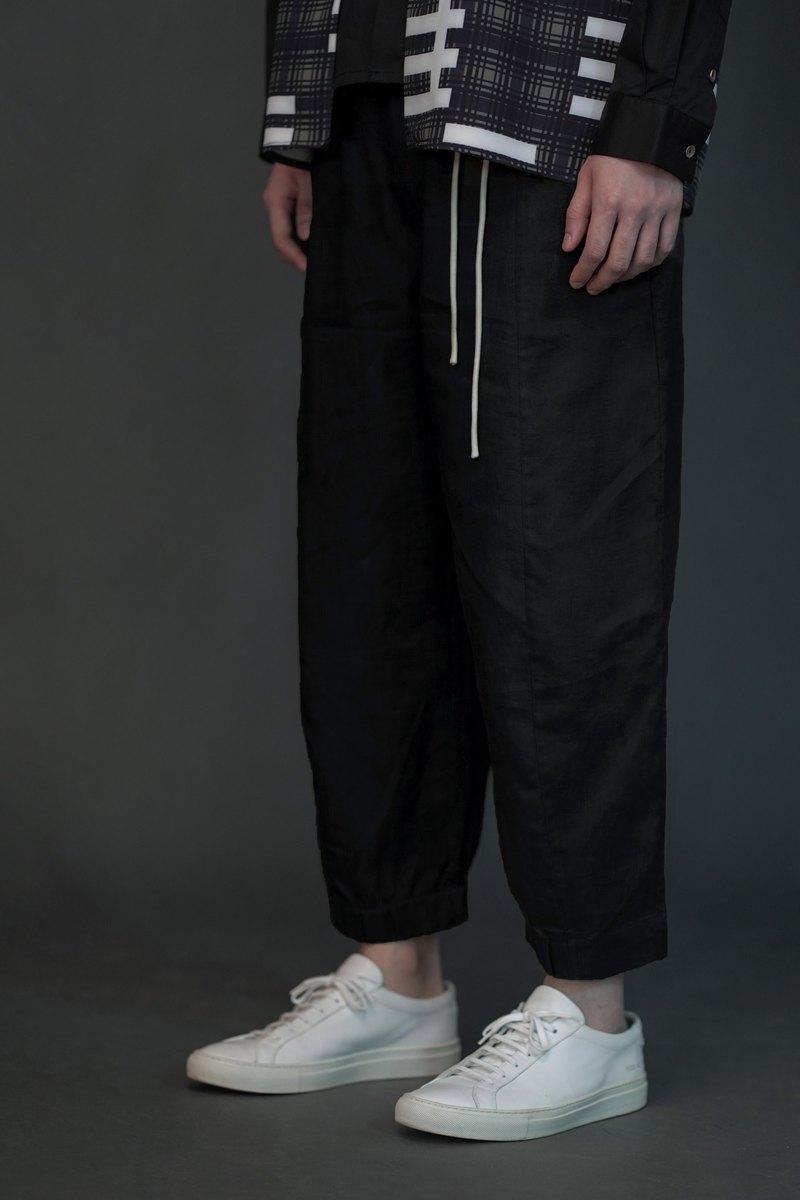 Journeyman亞麻褲子 黑色