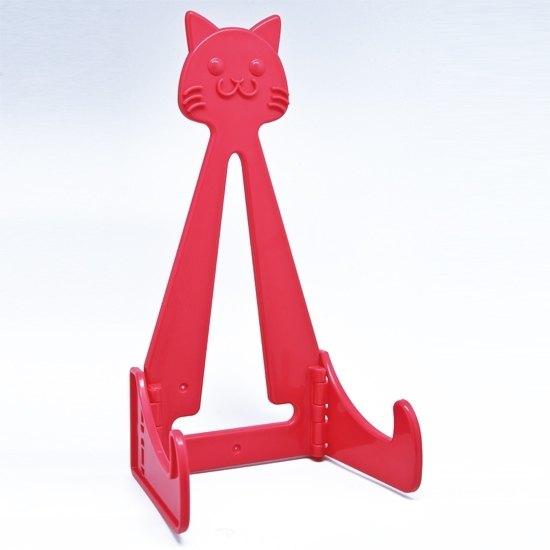 貓咪造型盤子展示架 粉紅色-86011